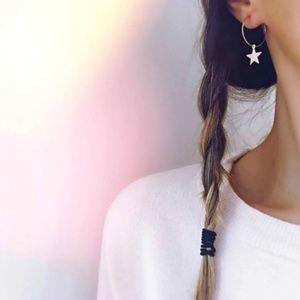 Star Hoop Earrings (Gold)